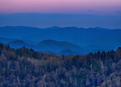 Wall Art - Photograph - Sunset At Newfound Gap In The Smoky Mountains by Martin Belan