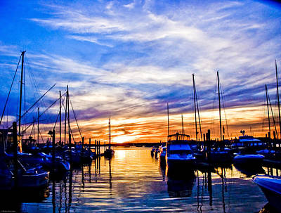 Photograph - Sunset At Newport by Ches Black