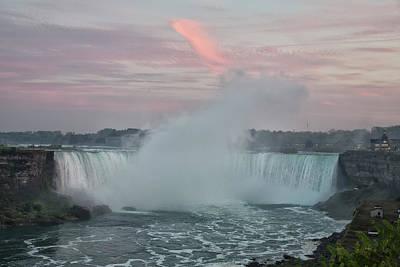 Photograph - Sunset At Niagara Falls by Jack Nevitt