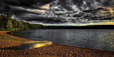 Photograph - Sunset At Nicks Lake by David Patterson