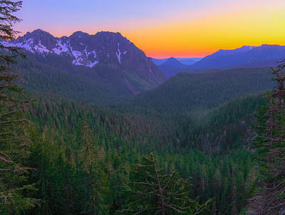 Photograph - Sunset At Nisqually River Valley by Dan Sproul