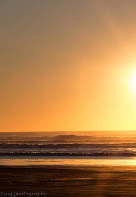 Space Photographs Of The Universe - Sunset at Ocean Shores, WA by Dennis and Tracy King