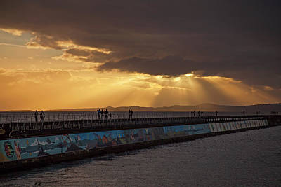 Photograph - Sunset At Ogden Point 365-256 by Inge Riis McDonald