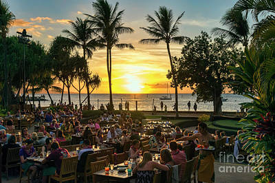 Photograph - Sunset At Old Lahaina Luau #1 by Eddie Yerkish