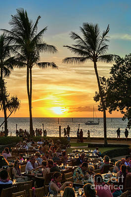 Photograph - Sunset At Old Lahina Luau #2 by Eddie Yerkish