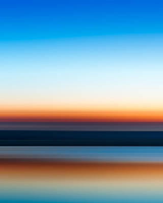 Abstract Stripe Patterns - Sunset at Ottawa Lake by Scott Norris