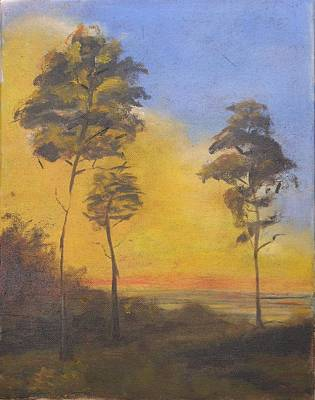 Pinetree Painting - Sunset At Overlook by Patricia Caldwell
