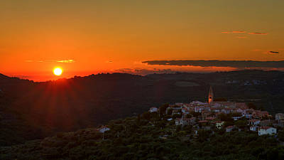 Photograph - Sunset At Padna by Robert Krajnc