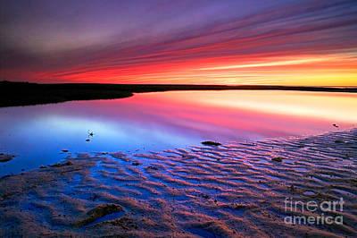 Sunset At Paines Creek Cape Cod Art Print by Matt Suess