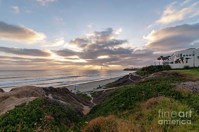 Photograph - Sunset At Palisades Park by Roman Gomez