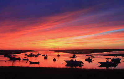 Photograph - Sunset At Pamet Harbor Cape Cod by John Burk