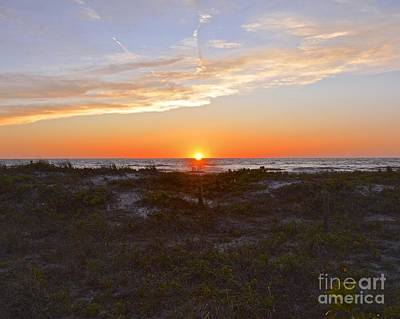 Photograph - Sunset At Pass-a-grille Beach by Carol  Bradley
