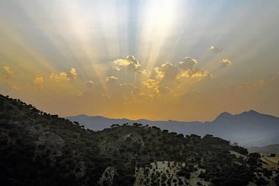 Mellow Yellow - Sunset at Pastelero near Villanueva de la Concepcion Andalucia Spain by Mal Bray