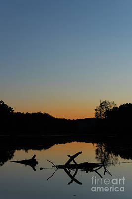 Sunset At Paulinskill Lake Art Print