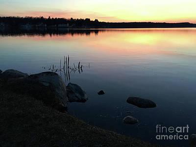 Sunset At Pentwater Lake Art Print