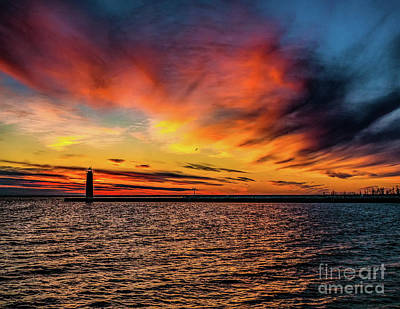 Photograph - Sunset At Pere Marquette Park by Nick Zelinsky