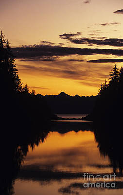 Peterson Nature Photograph - Sunset At Peterson Creek by John Hyde - Printscapes
