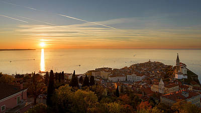 Sunset At Piran Art Print