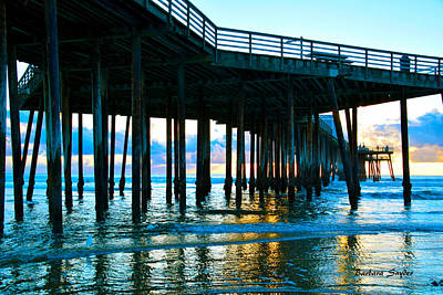 Pismo Beach Painting - Sunset At Pismo Beach Pier by Barbara Snyder
