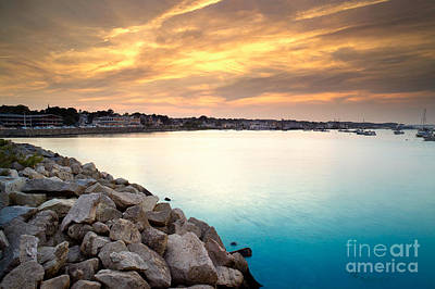 Plymouth Rock Photograph - Sunset At Plymouth Harbor by Matt Suess