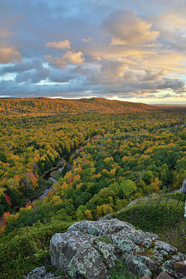 Photograph - Sunset At Porcupine Mountains by Ray Mathis