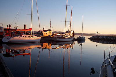 Photograph - Sunset At Powell River by Gary Giacomelli