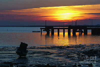 Photograph - Sunset At Puerto Real Cadiz Spain by Pablo Avanzini