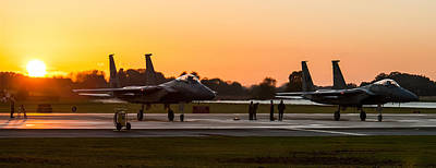 Photograph - Sunset At Raf Lakenheath by Tim Beach