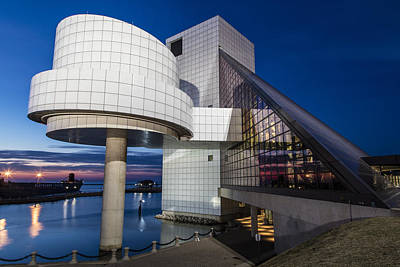 Photograph - Sunset At Rock And Roll Hall Of Fame  by John McGraw