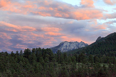 Photograph - Sunset At Rocky Mountain Park.co by James Steele