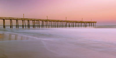 Photograph - Sunset At Rodanthe Fishing Pier In Obx Panorama by Ranjay Mitra