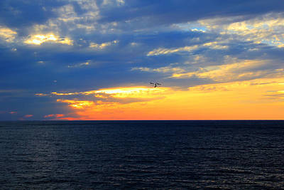 Print featuring the photograph Sunset At Sail Away by Shelley Neff