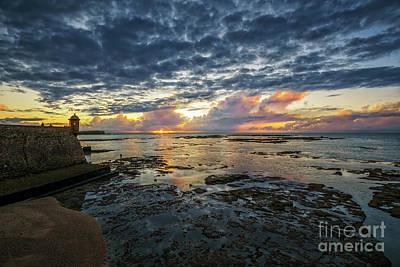 Photograph - Sunset At Saint Catherine Castle Cadiz Spain by Pablo Avanzini
