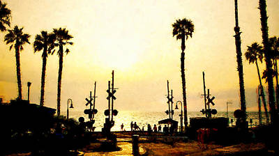 Mixed Media - Sunset At San Clemente by Glenn McCarthy Art and Photography