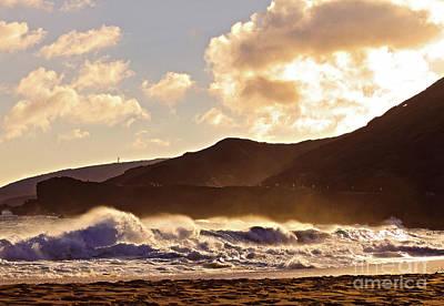 Photograph - Sunset At Sandy Beach by Kristine Merc