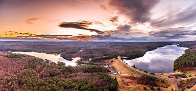 Sunset At Saville Dam - Barkhamsted Reservoir Connecticut Art Print