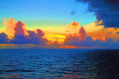 Photograph - Sunset At Sea by Greg Norrell