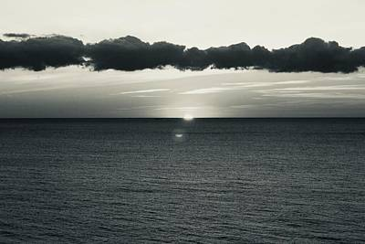 Photograph - Sunset At Sea by Roger Cummiskey