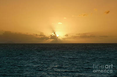 Beach Photograph - Sunset At Sea. Scenic View Of Beautiful Sunset Above The Sea. by Dani Prints and Images