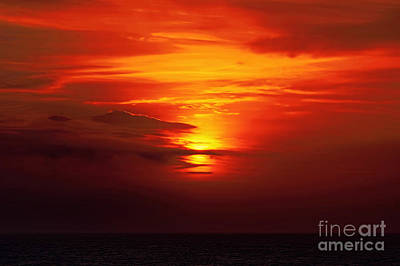 Photograph - Sunset At Sea by Sue Melvin