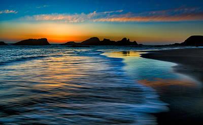Sunset At Seal Rock Oregon Art Print