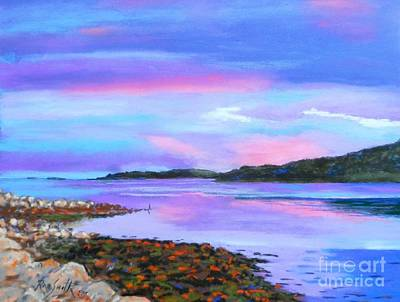 Pastel - Sunset At Secret Cove by Rae  Smith  PAC