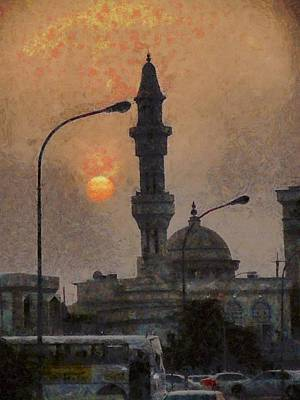 Sunset At Seeb Art Print