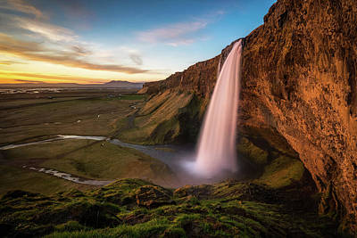 Photograph - Sunset At Seljalandsfoss by James Udall