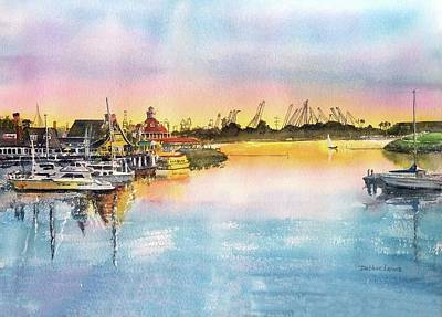 Painting - Sunset At Shoreline Village by Debbie Lewis