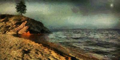 Painting - Sunset At Silver Bay by RC DeWinter
