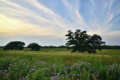 Photograph - Sunset At Silver Creek Prairie by Ray Mathis