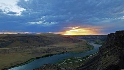 Photograph - Sunset At Snake River Canyon 1 by Judy Wanamaker