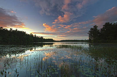 Sunset At Somes Pond Art Print by Juergen Roth