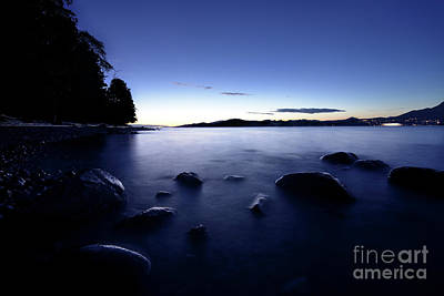 Photograph - Sunset At Spanish Banks Vancouver British Columbia by Terry Elniski